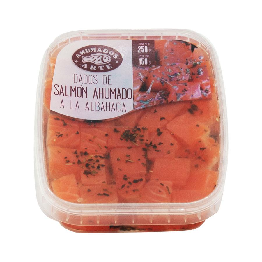 Dau de salmó a l'alfabrega amb oli-barqueta